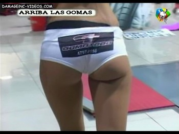 Paz Tarragona ass cheeks in shorts